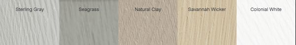 Solid Colors Available in Cedar Impressions Individuals