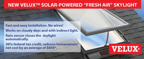Velux Solar Skylights Offer Tax Incentives, Fresh Air